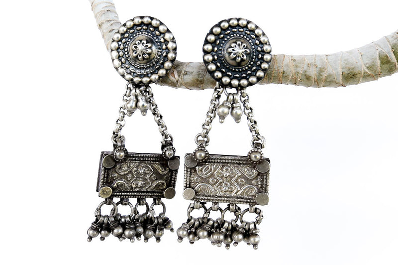 Vintage Silver Marriage Earrings - Blonde Vagabond