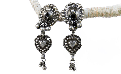 Bellydancer Kiss Silver Earrings