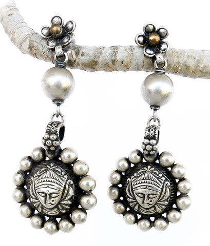 Keeper of the Secrets Vintage Silver Earrings