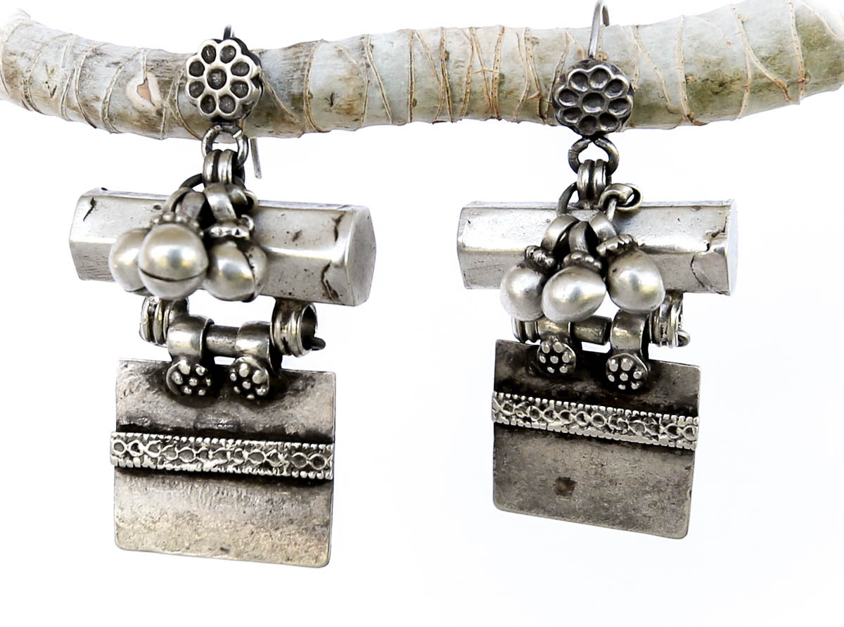 Keeper of the Secrets Vintage Silver Earrings - Blonde Vagabond