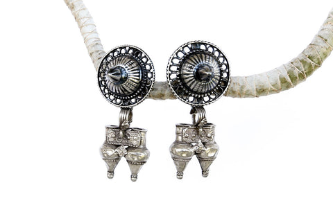 Vintage Gypsy Faire Silver Earrings