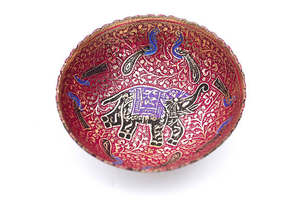 Red Elephant Ritual Bowl w Purple Costume - Blonde Vagabond