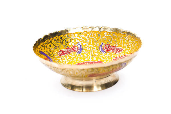 Yellow Peacock Ritual Bowl - Blonde Vagabond