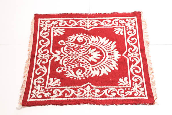 "Natural Cotton Shakti Red ""Asan"" or Meditation Mat - Blonde Vagabond"
