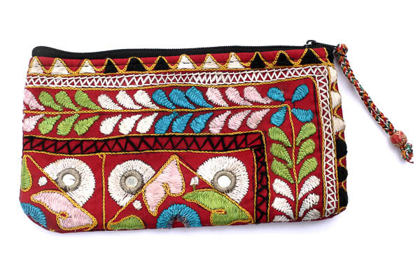Tribal Hand Clutch with Red - Blonde Vagabond
