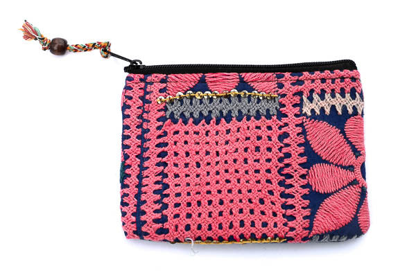 Pink Tribal Clutch - Blonde Vagabond