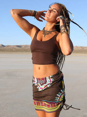 Pachamama Brown Blonde Vagabond Tribal skirt