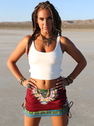 """Onyx"" Tribal Mini Skirt"