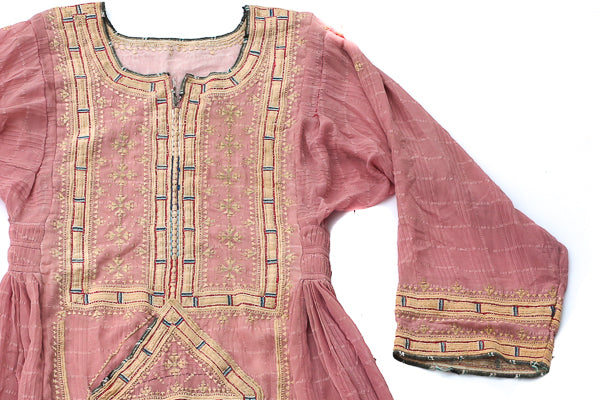 HAND EMBROIDERED BALOCHI/AFGHANI TRIBAL DRESS - SWEET CHEEKS