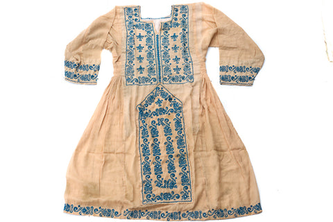 Hand embroidered Balochi Tribal Dress - Rainbow Child