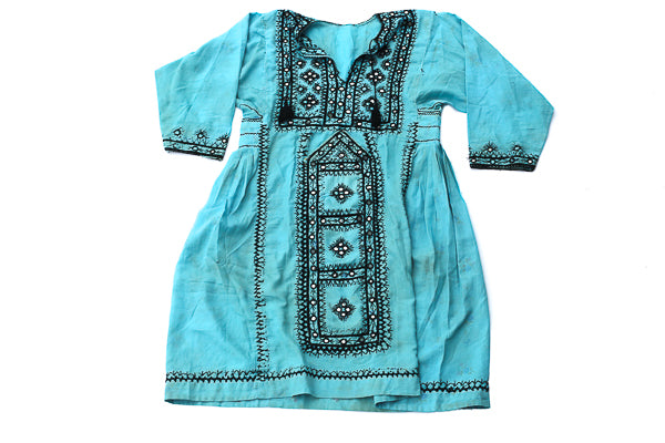 HAND EMBROIDERED BALOCHI/AFGHANI BOHO DRESS - BLUE BEAUTY - Blonde Vagabond