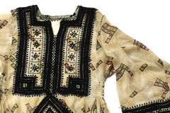 HAND EMBROIDERED BALOCHI/AFGHANI BOHO DRESS - PETUNIA - Blonde Vagabond