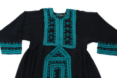 HAND EMBROIDERED BALOCHI/AFGHANI BOHO DRESS - NIGHT TRAVELER - Blonde Vagabond