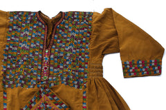 HAND EMBROIDERED BALOCHI/AFGHANI BOHO DRESS - LULLABY SONG - Blonde Vagabond