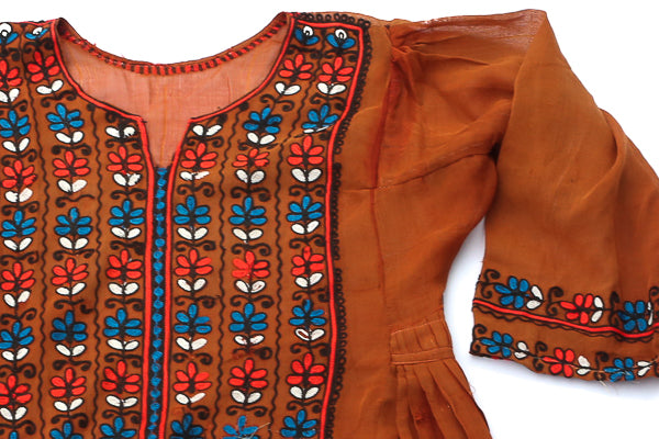 HAND EMBROIDERED BALOCHI/AFGHANI BOHO DRESS - LOVE BUG - Blonde Vagabond