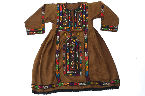 HAND EMBROIDERED BALOCHI/AFGHANI BOHO DRESS - EARTH LOVE - Blonde Vagabond