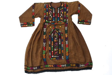 HAND EMBROIDERED BALOCHI/AFGHANI TRIBAL DRESS - PINK LOVE