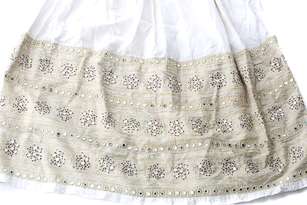 HAND EMBROIDERED GUJARATI BOHO MAXI SKIRT - BOHO BRIDE - Blonde Vagabond