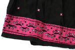 HAND EMBROIDERED GUJARATI BOHO MAXI SKIRT - MIDNIGHT KISS - Blonde Vagabond