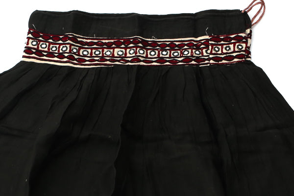 HAND EMBROIDERED GUJARATI BOHO MAXI SKIRT - EARTH MAMA - Blonde Vagabond