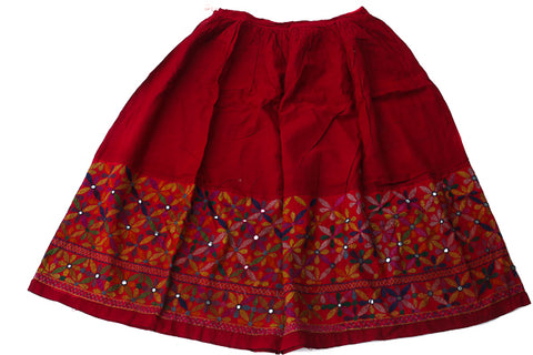 HAND EMBROIDERED GUJARATI BOHO MAXI SKIRT - EARTH MAMA