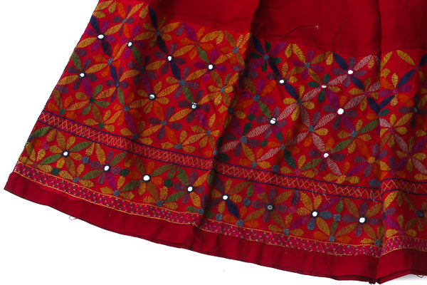 HAND EMBROIDERED GUJARATI BOHO MAXI SKIRT - SENORITA - Blonde Vagabond