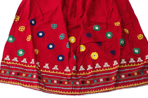 HAND EMBROIDERED GUJARATI BOHO MAXI SKIRT - DURGA'S DAY OFF