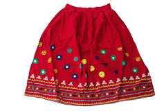 HAND EMBROIDERED GUJARATI BOHO MAXI SKIRT - DURGA'S DAY OFF - Blonde Vagabond