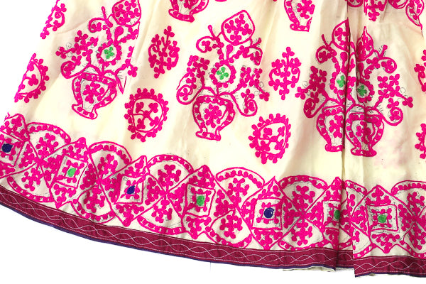 HAND EMBROIDERED GUJARATI BOHO MAXI SKIRT - SPINNING GYPSY - Blonde Vagabond