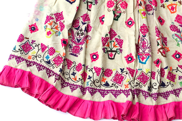 HAND EMBROIDERED GUJARATI BOHO MAXI SKIRT - LALITA - Blonde Vagabond