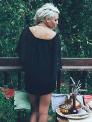 Dream Boho Little Black Dress - Blonde Vagabond