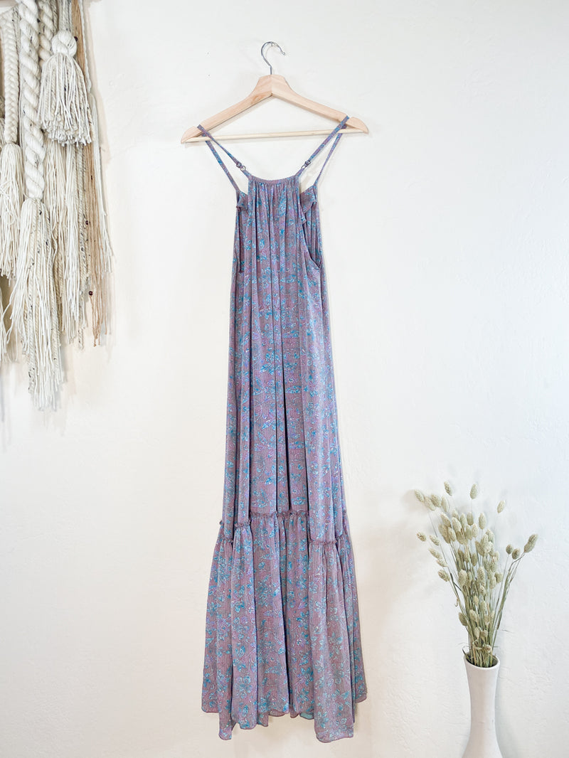 Topanga Maxi Dress - Blue and Pink Floral