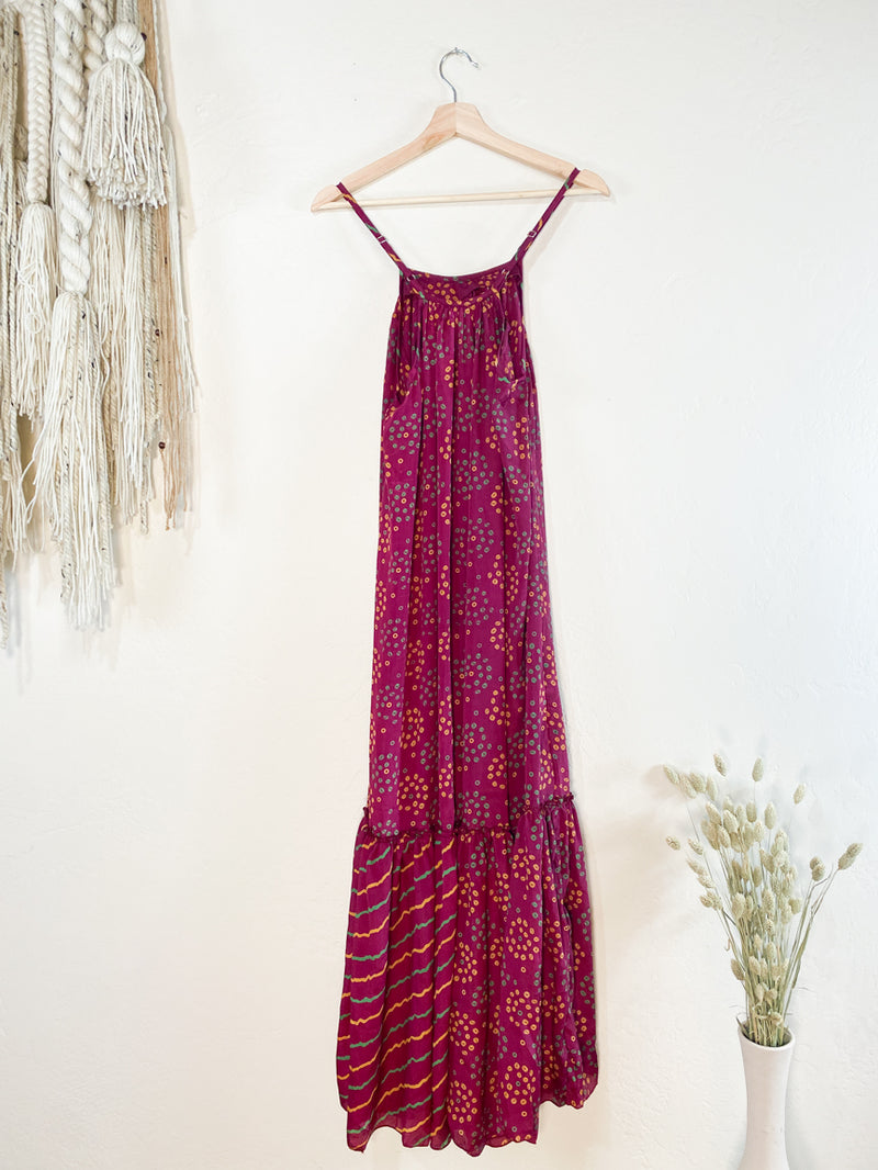Topanga Maxi Dress - Vibrant Pink with Colorbursts