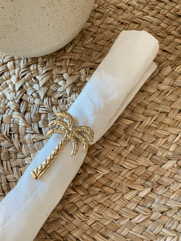 THE PALM NAPKIN RING - Black Salt Co