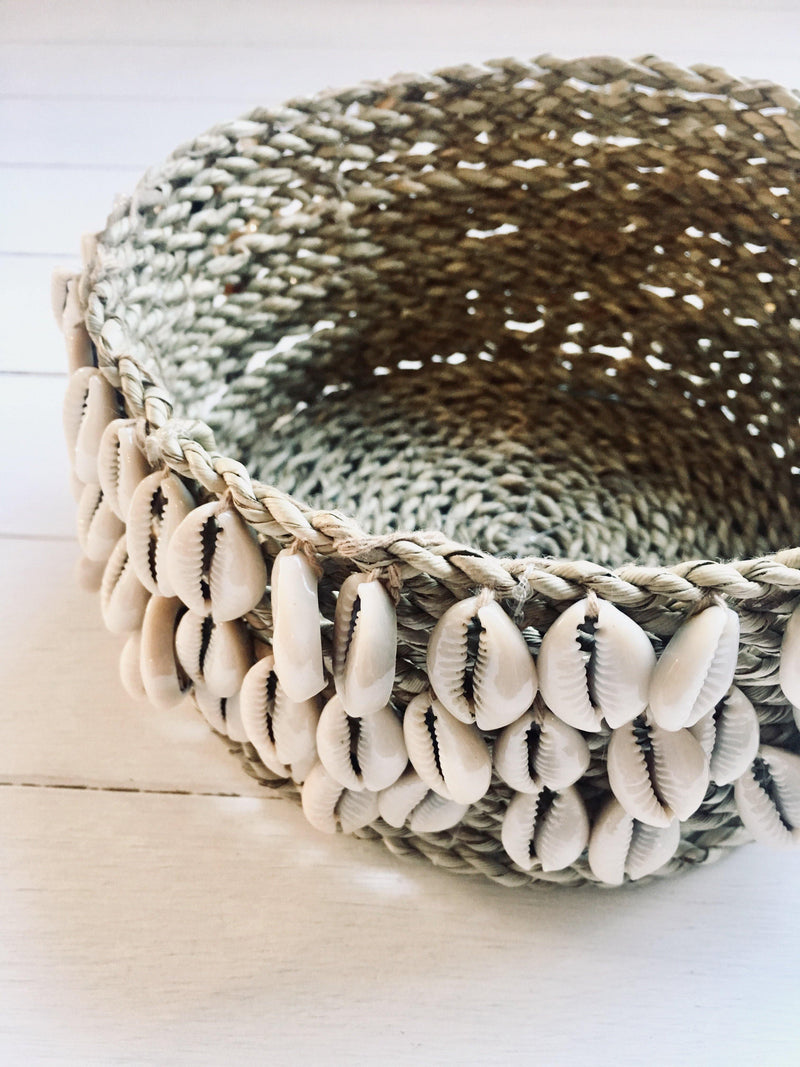 THE SHELLY BASKET - Black Salt Co Coastal Luxe Homewares and Decor