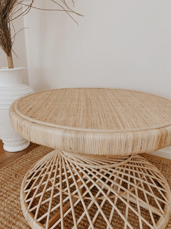 THE BRAZIL TABLE -coastal luxe, furniture, rattan - Black Salt Co