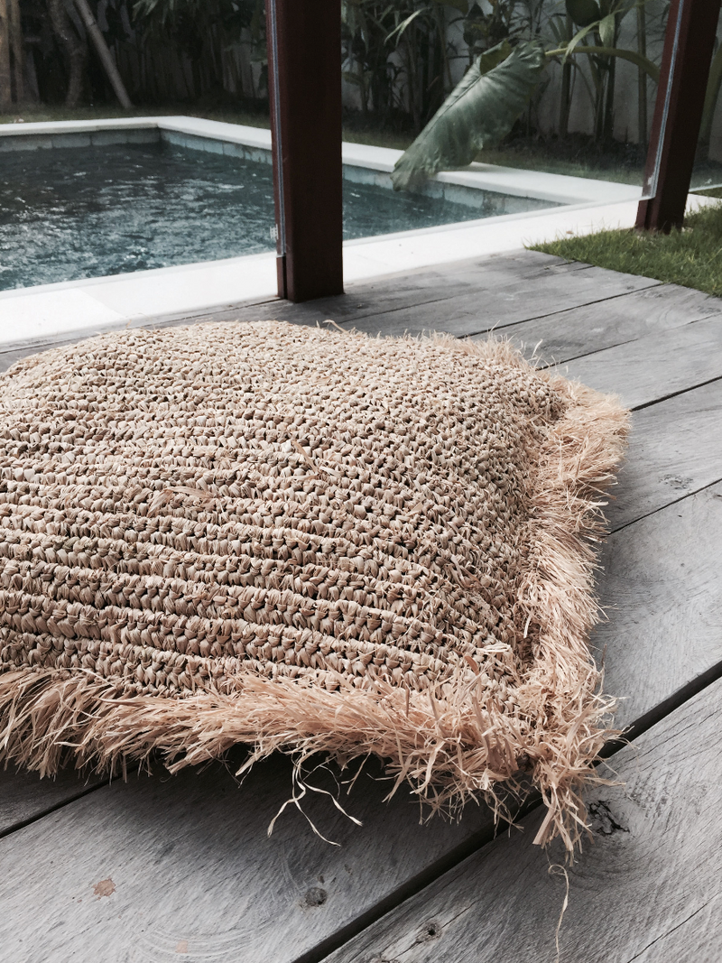 THE PERO FLOOR CUSHION - Black Salt Co Coastal Luxe Homewares and Decor