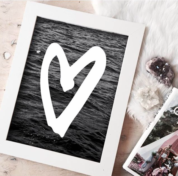 THE 'HEART WAVES' PRINT - Black Salt Co Coastal Luxe Homewares and Decor