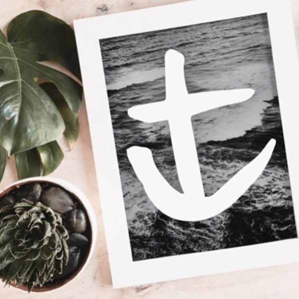 THE 'ANCHOR WAVES' PRINT - Black Salt Co Coastal Luxe Homewares and Decor
