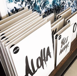 THE 'ALOHA' PRINT - Black Salt Co Coastal Luxe Homewares and Decor