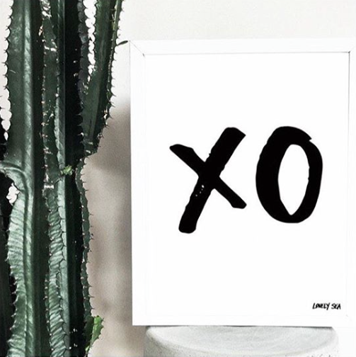 THE 'XO' PRINT - Black Salt Co Coastal Luxe Homewares and Decor