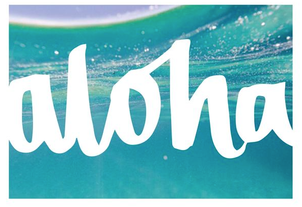 THE 'ALOHA 2' PRINT - Black Salt Co Coastal Luxe Homewares and Decor