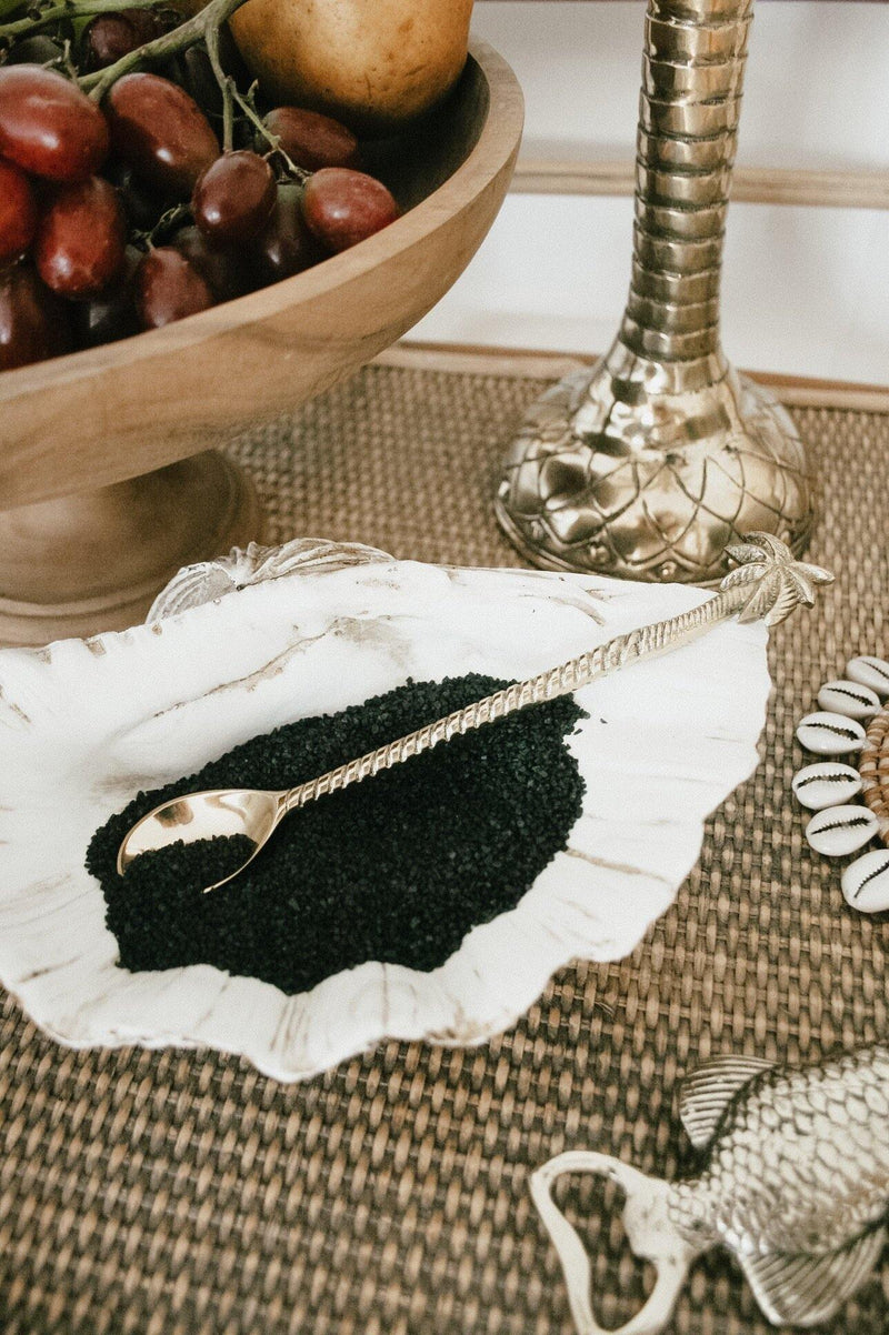 THE PALM SWIRLER SPOON - Black Salt Co Coastal Luxe Homewares and Decor