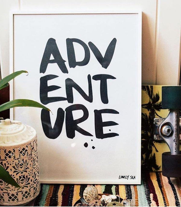 THE 'ADVENTURE' PRINT - Black Salt Co Coastal Luxe Homewares and Decor