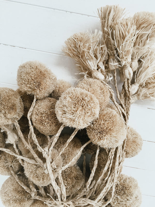 POM POM TASSELS -coastal luxe, decor - Black Salt Co