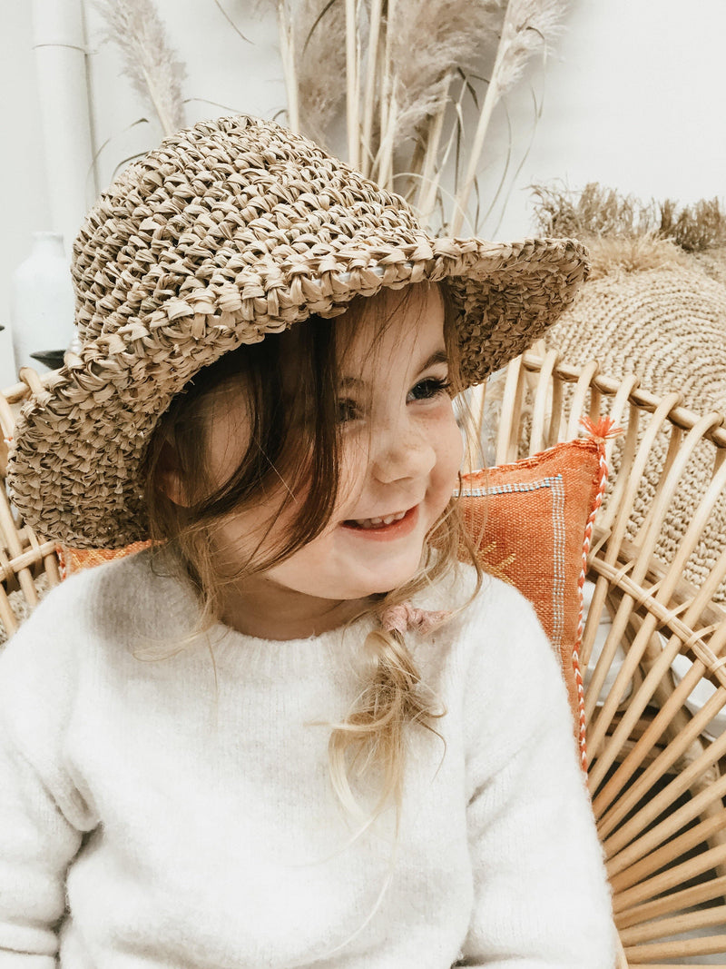 THE SHELLY KIDS HAT - Black Salt Co Coastal Luxe Homewares and Decor
