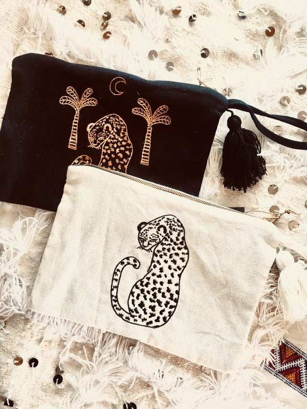 THE LAZY LEOPARD CLUTCH - Black Salt Co Coastal Luxe Homewares and Decor