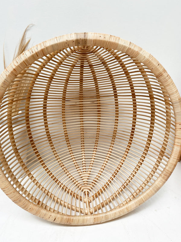 THE BELIZE HANGING CHAIR -coastal luxe, furniture, rattan - Black Salt Co