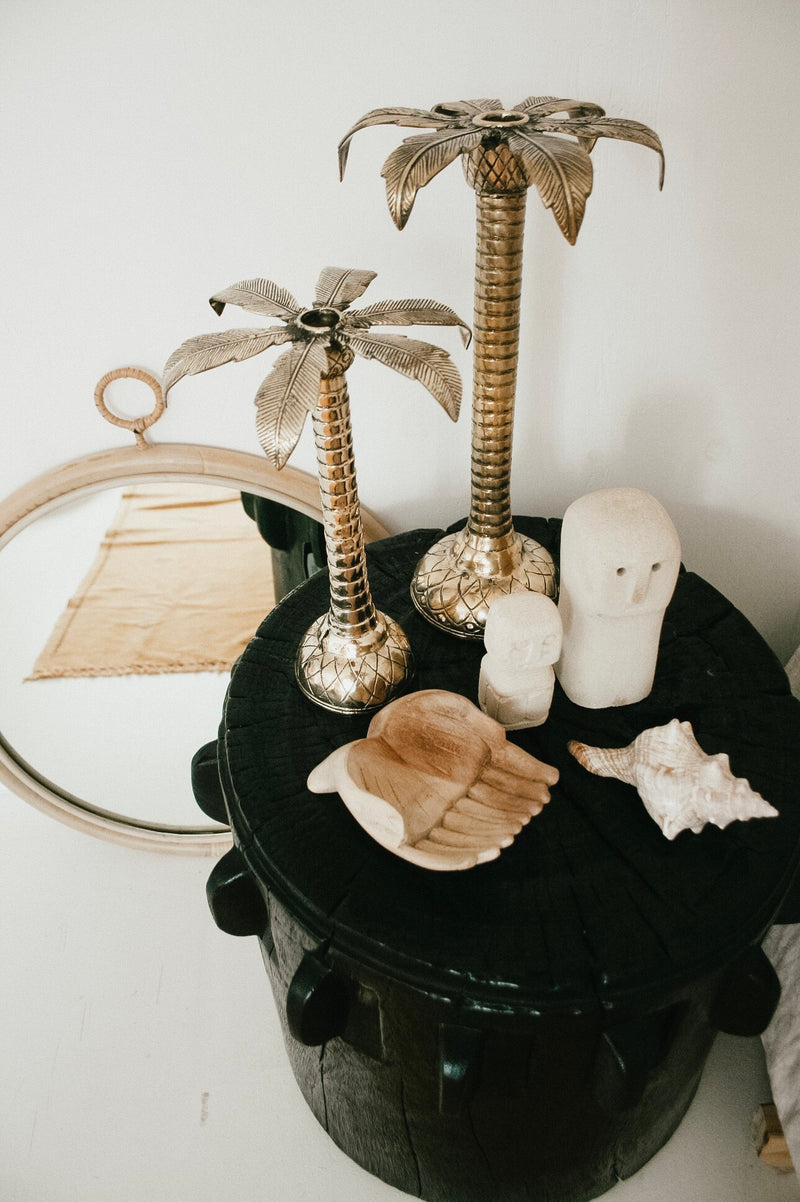 THE ROYAL PALM CANDLEHOLDERS - Black Salt Co Coastal Luxe Homewares and Decor