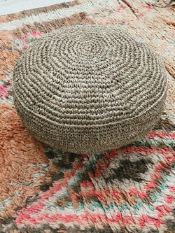 THE FLORES POUFFE - Black Salt Co Coastal Luxe Homewares and Decor